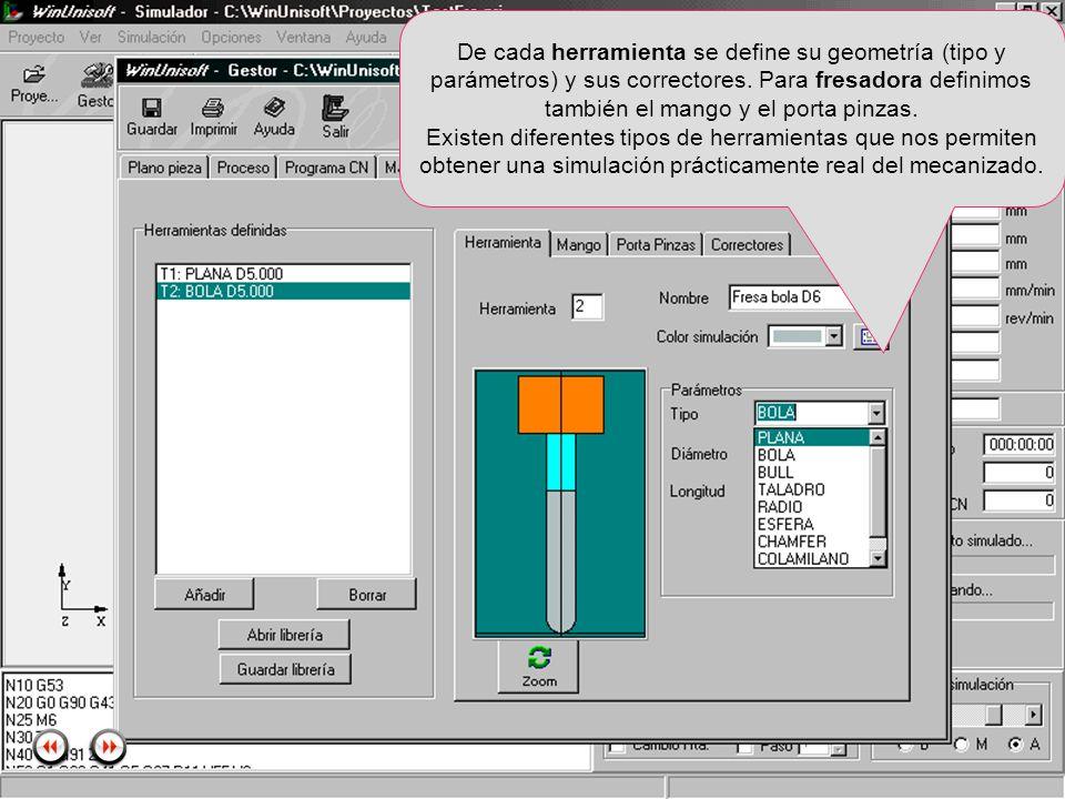 Alecop S.Coop Mondragón (Guipuzcoa) Spain Tlf. 00 943 712 40 www.alecop.com De cada herramienta se define su geometría (tipo y parámetros) y sus corre