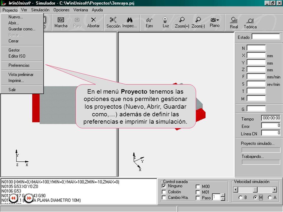 Alecop S.Coop Mondragón (Guipuzcoa) Spain Tlf. 00 943 712 40 www.alecop.com En el menú Proyecto tenemos las opciones que nos permiten gestionar los pr