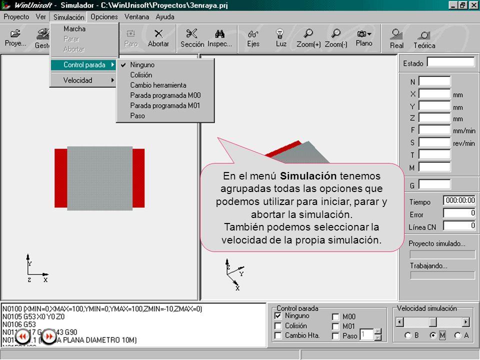 Alecop S.Coop Mondragón (Guipuzcoa) Spain Tlf. 00 943 712 40 www.alecop.com En el menú Simulación tenemos agrupadas todas las opciones que podemos uti