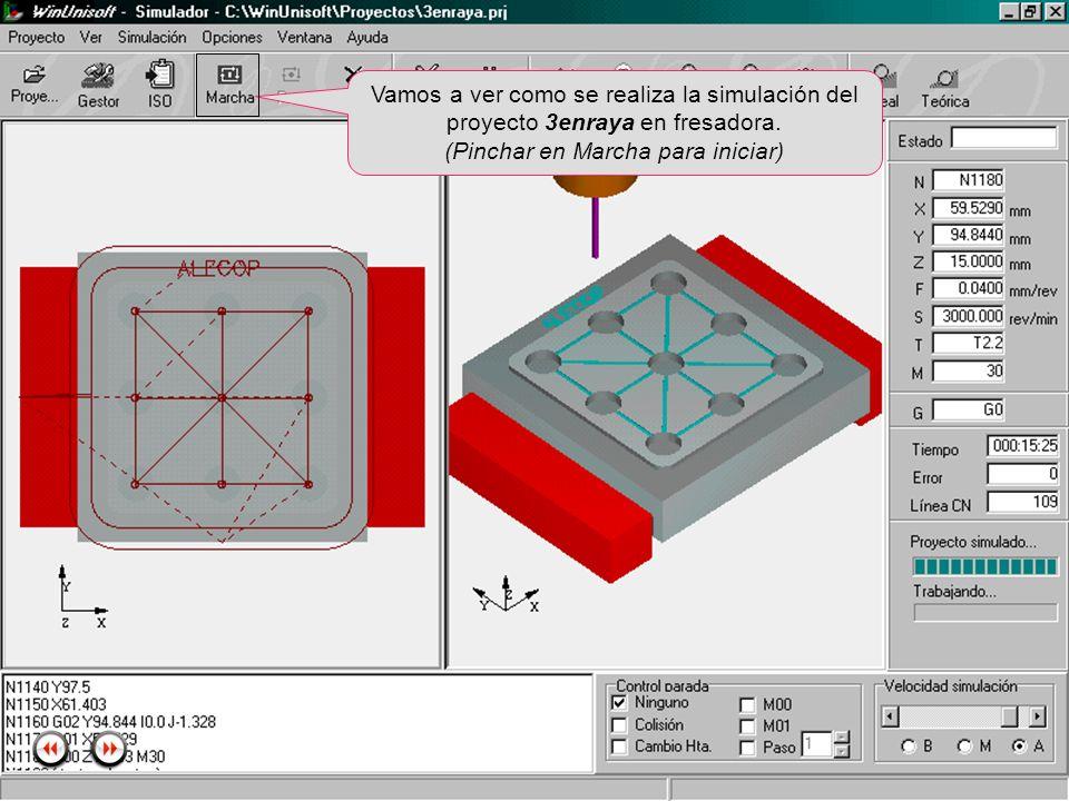 Alecop S.Coop Mondragón (Guipuzcoa) Spain Tlf. 00 943 712 40 www.alecop.com Vamos a ver como se realiza la simulación del proyecto 3enraya en fresador