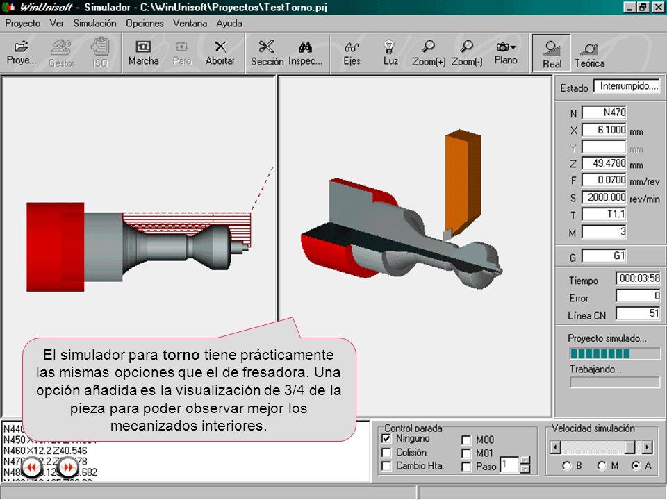Alecop S.Coop Mondragón (Guipuzcoa) Spain Tlf. 00 943 712 40 www.alecop.com El simulador para torno tiene prácticamente las mismas opciones que el de