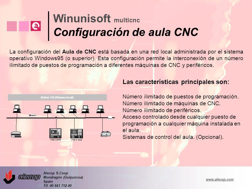 Alecop S.Coop Mondragón (Guipuzcoa) Spain Tlf. 00 943 712 40 www.alecop.com Las características principales son: Número ilimitado de puestos de progra