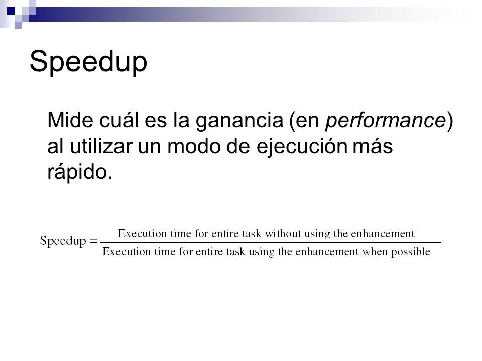 MIPS: Desventajas Depende del conjunto de instrucciones (no sirve para comparar máquinas con distintos ISAs).