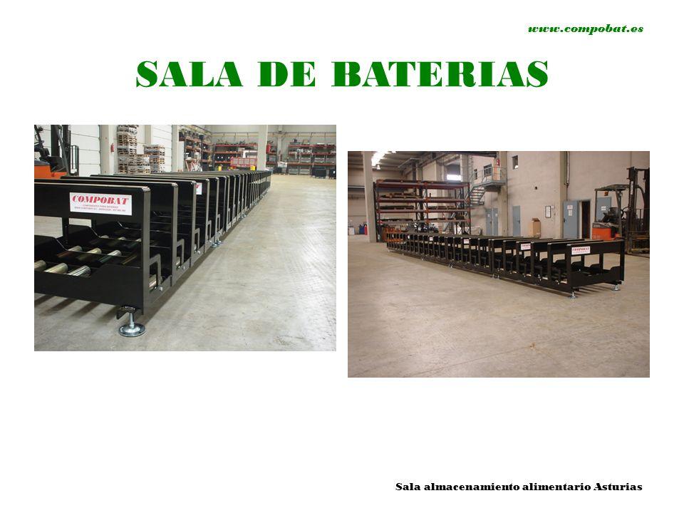 www.compobat.es SALA DE BATERIAS Sala almacenamiento alimentario Asturias