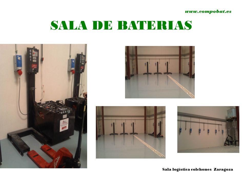 www.compobat.es SALA DE BATERIAS Sala logística colchones Zaragoza
