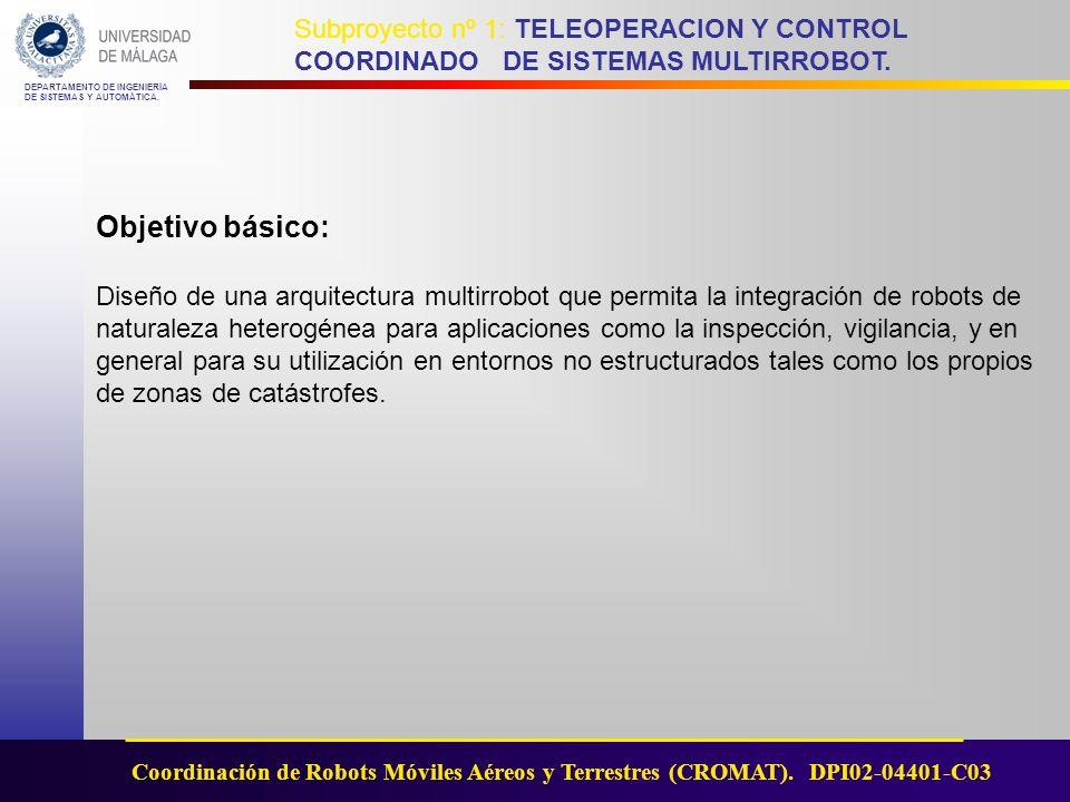 DEPARTAMENTO DE INGENIERÍA DE SISTEMAS Y AUTOMÁTICA.