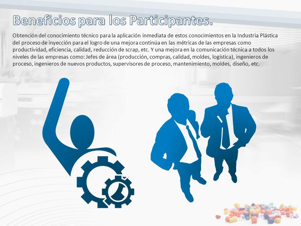 Obtención del conocimiento técnico para la aplicación inmediata de estos conocimientos en la Industria Plástica del proceso de inyección para el logro
