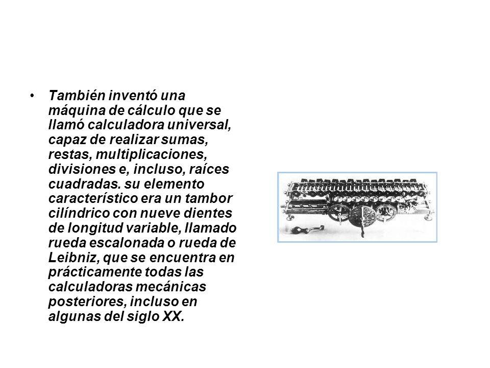 Inicios del desarrollo de la lógica Aparte de la creación, paralelamente a Newton, del cálculo infinitesimal, descubrió el cálculo diferencial y fue el precursor de la lógica matemática, proponiendo un sistema binario para la realización de cálculos.