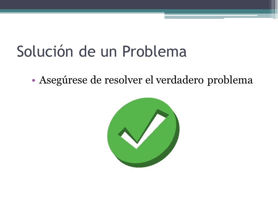 Solución de un Problema Dibuje un diagrama que represente el problema a resolver