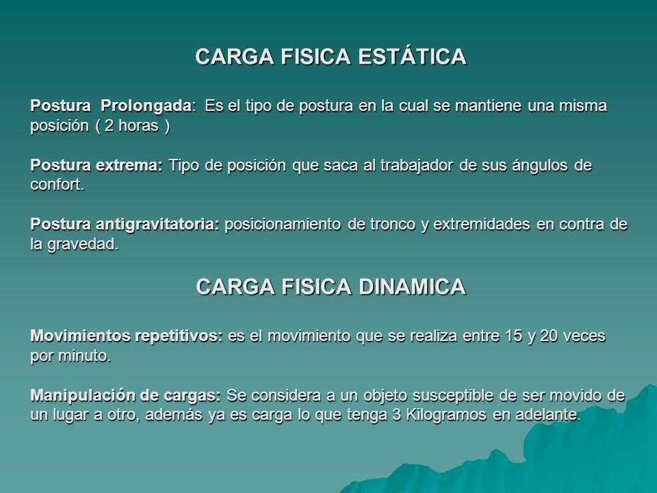 CARGA DE LOS SENTIDOS CARGA VISUAL CARGA AUDITIVA CARGA MENTAL