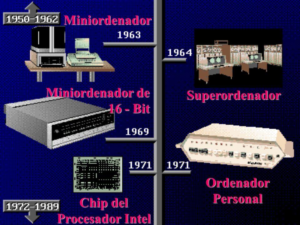 La Tercera Generación: (principios de la década del 60) ElEl transistor es sustituido por los circuitos integrados. Pequeñas placas llamadas Chips. Se