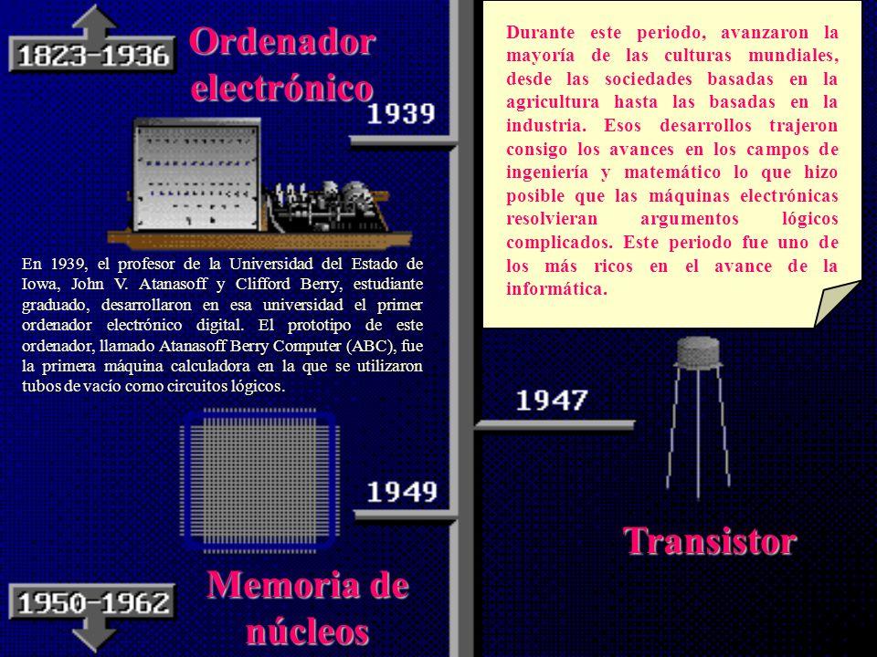La Primera Generación: (principios de la década del 40) LasLas primeras máquinas empleaban el Tubo de Vacío como elemento fundamental del circuito. Te