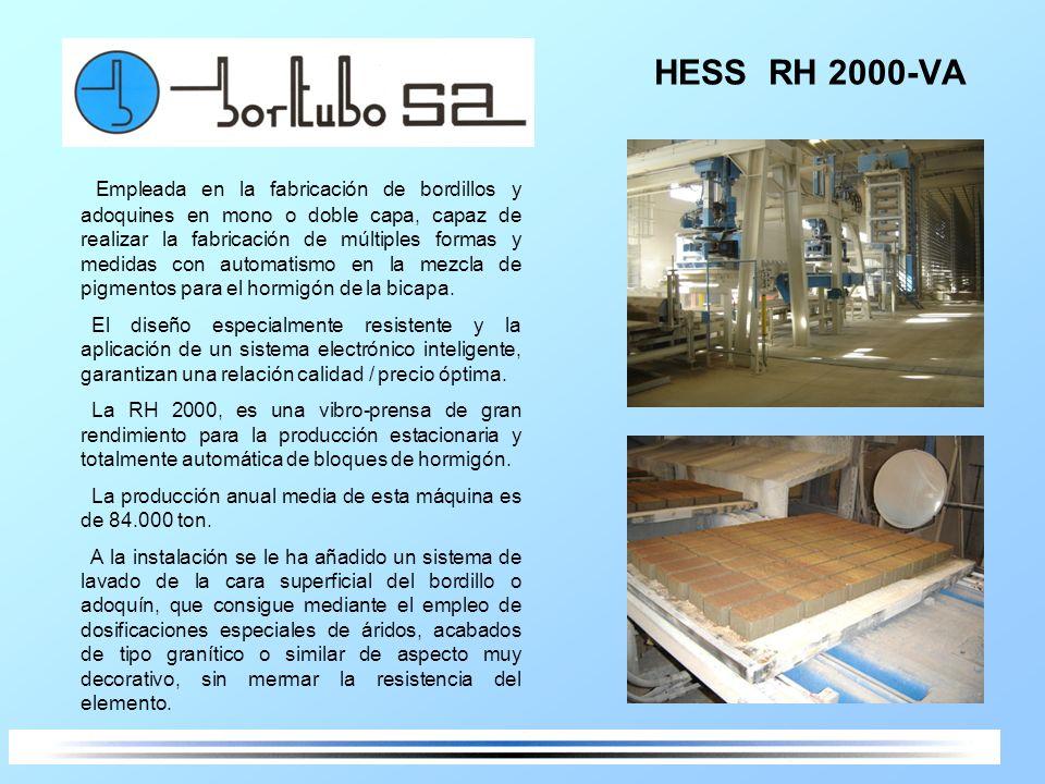 HESS RH 2000-VA Empleada en la fabricación de bordillos y adoquines en mono o doble capa, capaz de realizar la fabricación de múltiples formas y medid