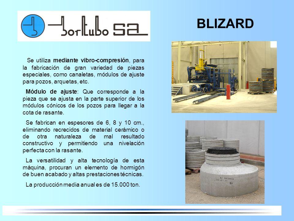BLIZARD Se utiliza mediante vibro-compresión, para la fabricación de gran variedad de piezas especiales, como canaletas, módulos de ajuste para pozos,