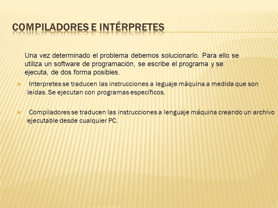 Interpretes se traducen las instrucciones a leguaje máquina a medida que son leídas.