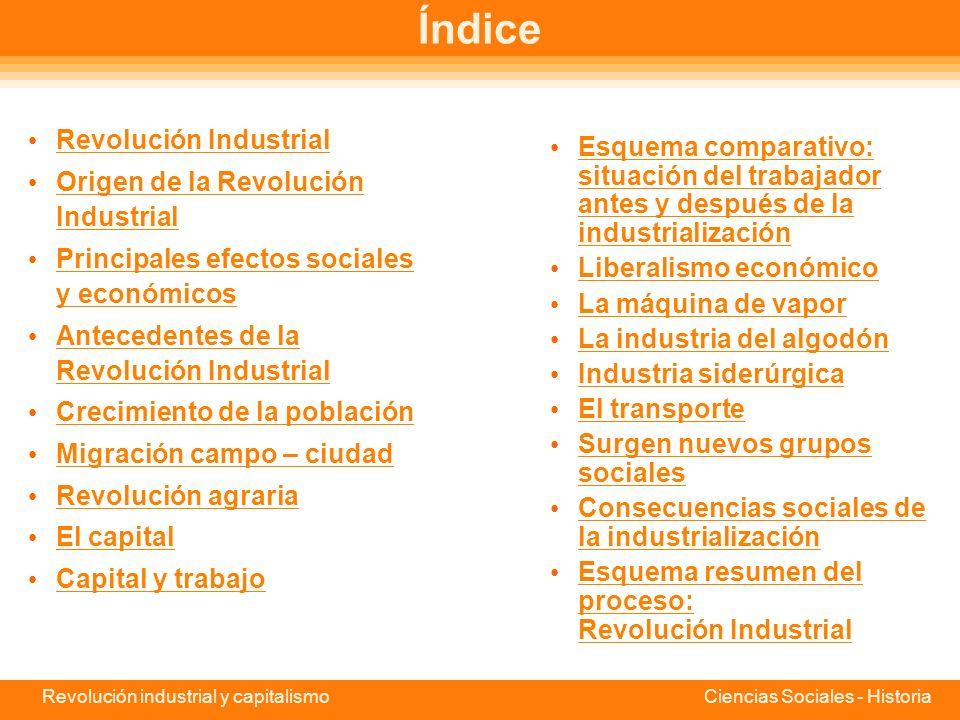 Revolución industrial y capitalismo Ciencias Sociales - Historia Uruguay Educa Portal educativo de Uruguay Administración Nacional de Educación Públic