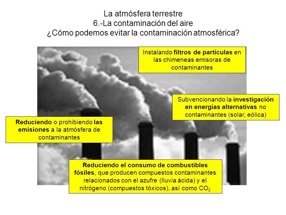 La atmósfera terrestre 6.-La contaminación del aire ACTIVIDADES 15 16 17 18 19
