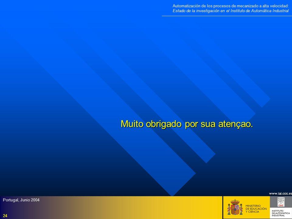 www.iai.csic.es Automatización de los procesos de mecanizado a alta velocidad: Estado de la investigación en el Instituto de Automática Industrial Por
