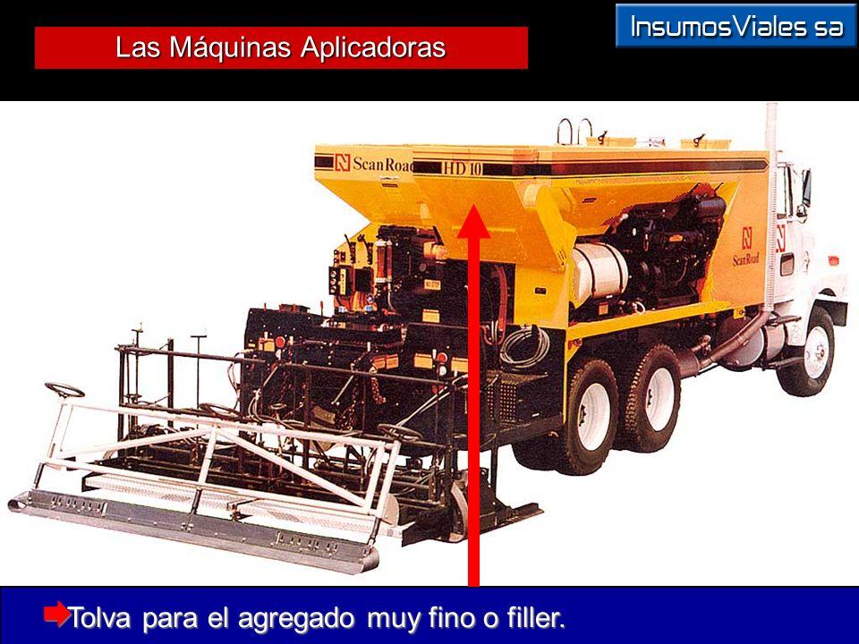 Las Máquinas Aplicadoras Tolva para el agregado muy fino o filler. Tolva para el agregado muy fino o filler.