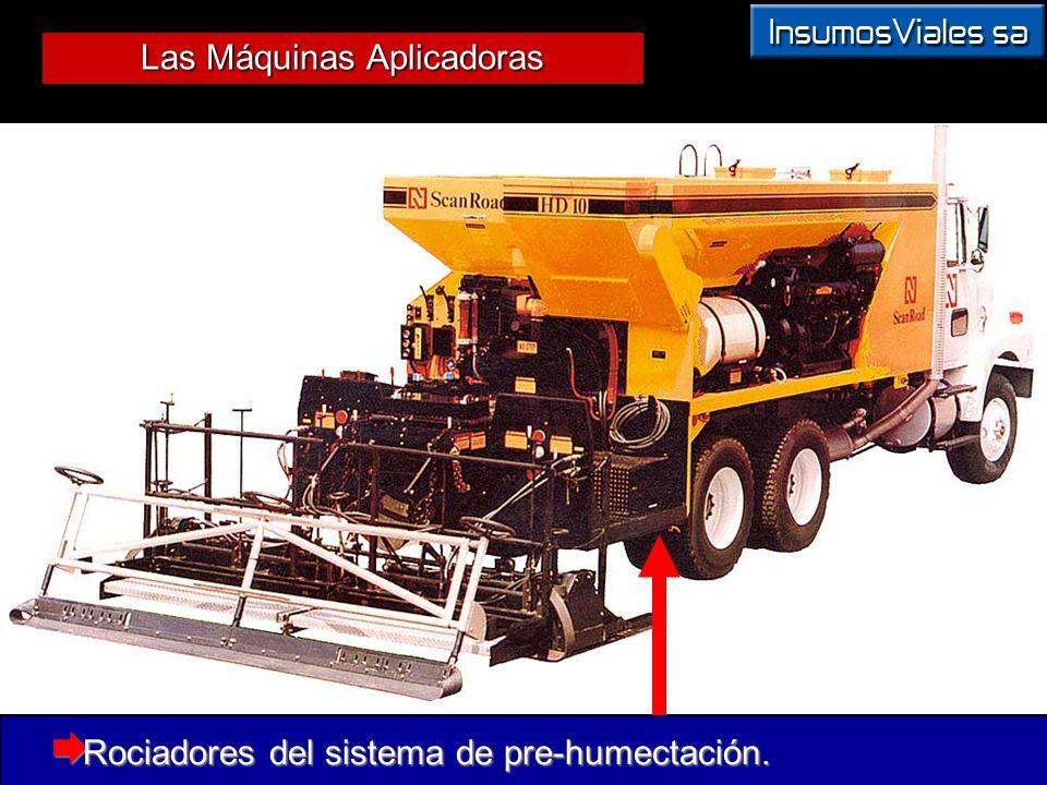 Las Máquinas Aplicadoras Rociadores del sistema de pre-humectación. Rociadores del sistema de pre-humectación.
