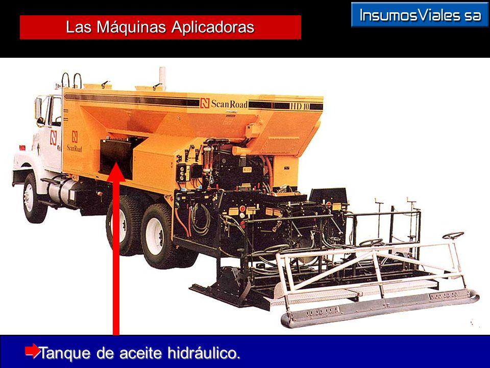 Las Máquinas Aplicadoras Tanque de aceite hidráulico. Tanque de aceite hidráulico.
