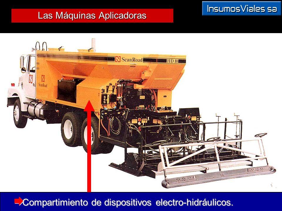 Las Máquinas Aplicadoras Compartimiento de dispositivos electro-hidráulicos. Compartimiento de dispositivos electro-hidráulicos.