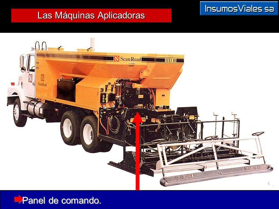 Las Máquinas Aplicadoras Panel de comando. Panel de comando.