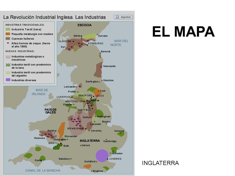 EL MAPA INGLATERRA