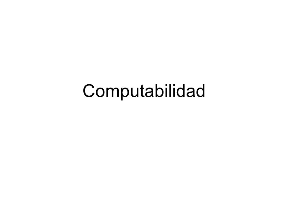 Computabilidad
