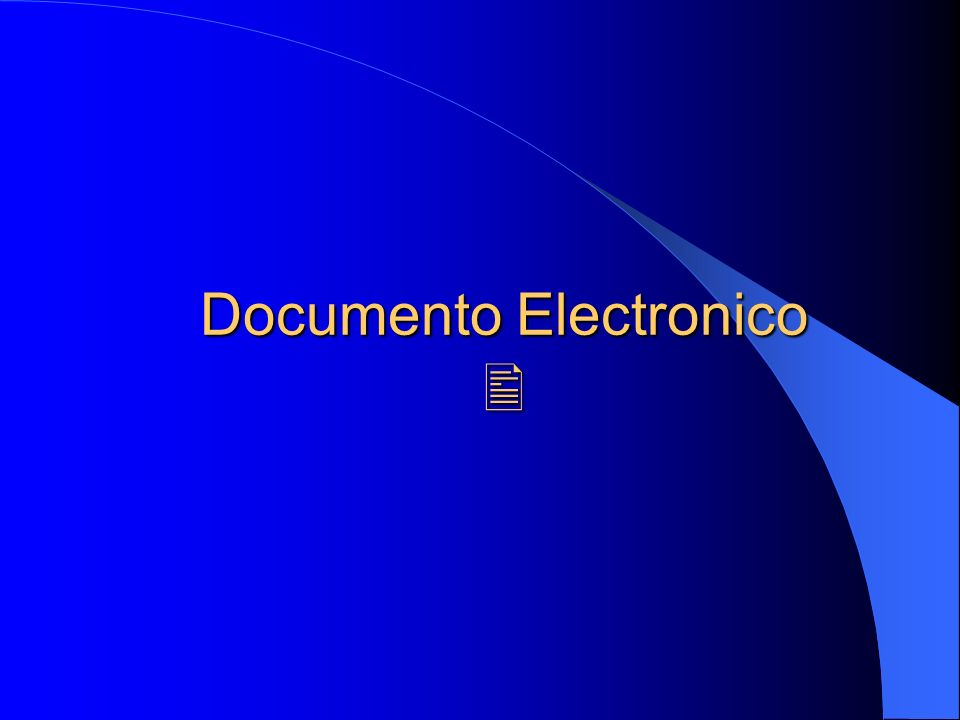 Documento Electronico Documento Electronico
