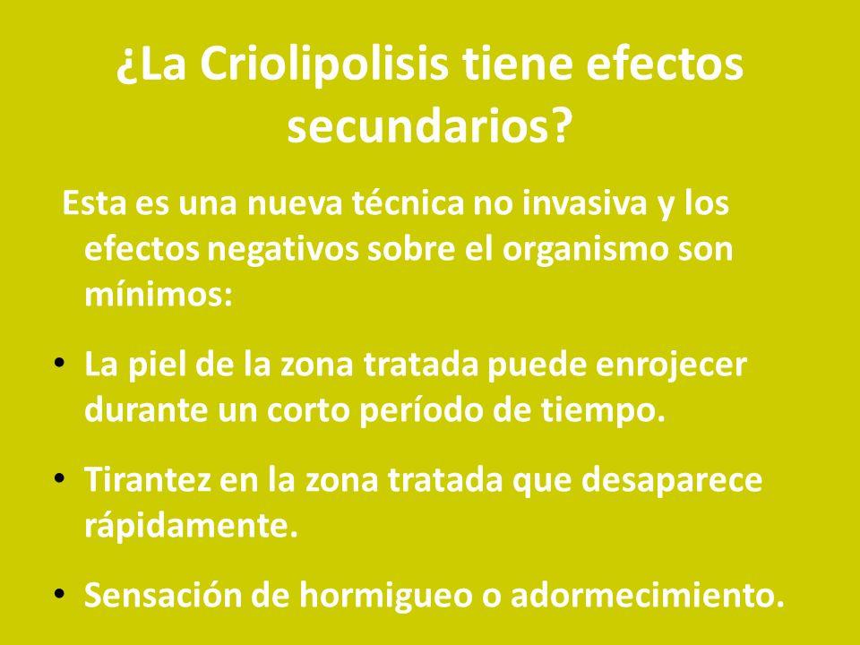 ¿La Criolipolisis tiene efectos secundarios? Esta es una nueva técnica no invasiva y los efectos negativos sobre el organismo son mínimos: La piel de