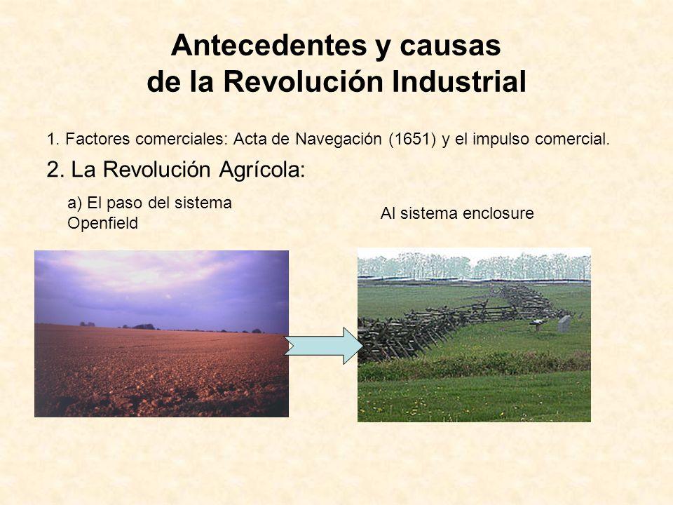 Antecedentes y causas de la Revolución Industrial 2.
