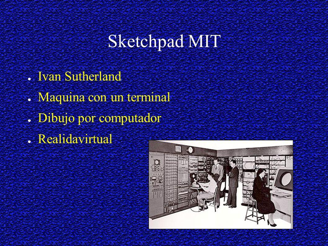 Sketchpad MIT Ivan Sutherland Maquina con un terminal Dibujo por computador Realidavirtual