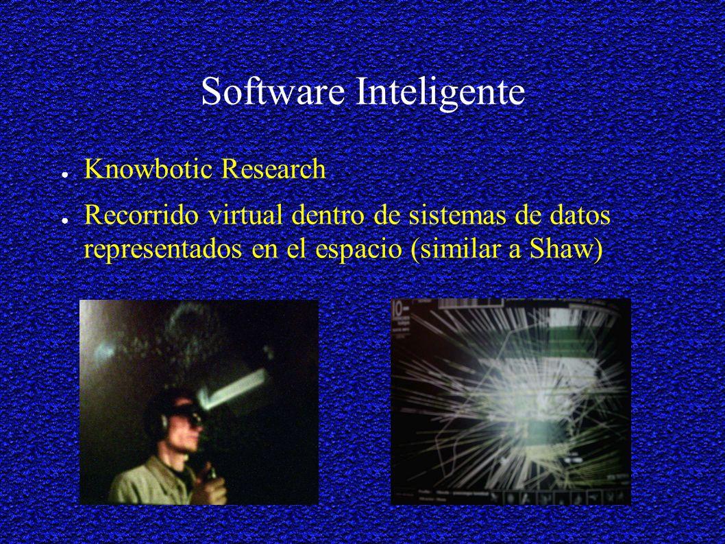 Software Inteligente Knowbotic Research Recorrido virtual dentro de sistemas de datos representados en el espacio (similar a Shaw)