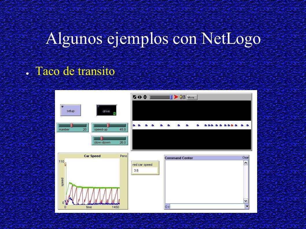 Algunos ejemplos con NetLogo Taco de transito