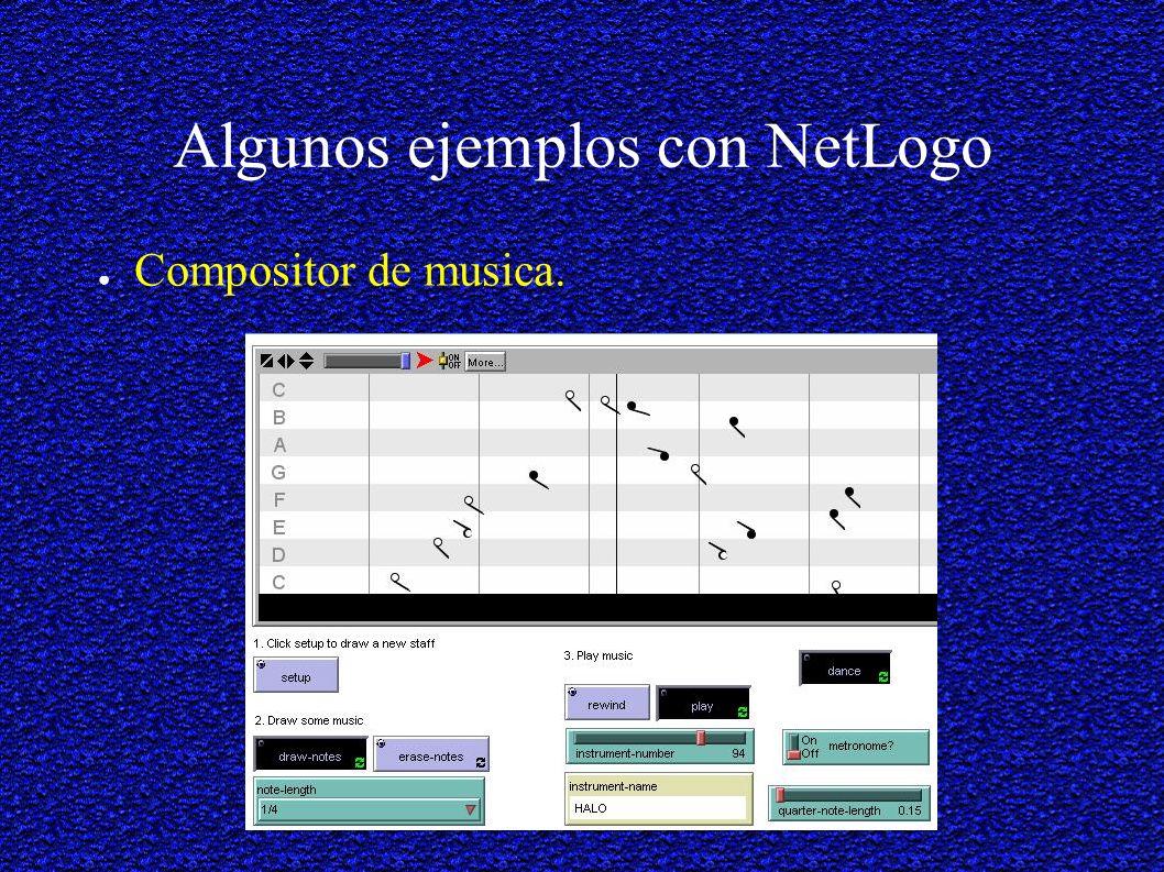 Algunos ejemplos con NetLogo Compositor de musica.