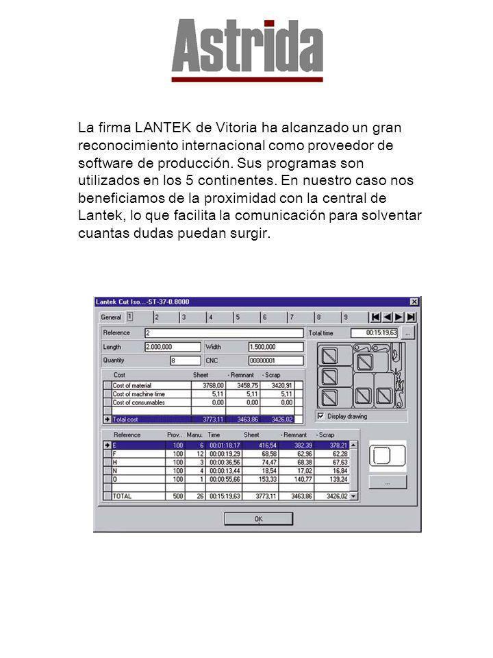 La firma LANTEK de Vitoria ha alcanzado un gran reconocimiento internacional como proveedor de software de producción. Sus programas son utilizados en