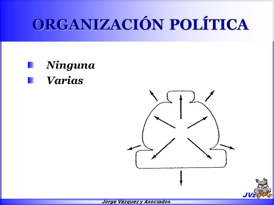 Jorge Vázquez y Asociados ORGANIZACIÓN POLÍTICA Ninguna Varias