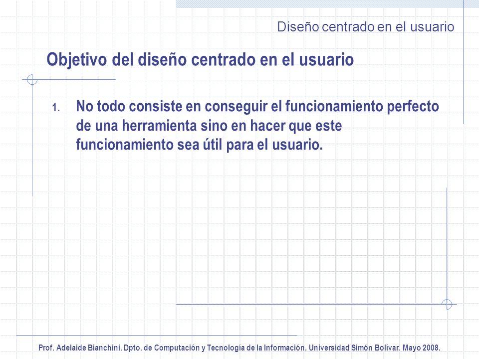Prof.Adelaide Bianchini. Dpto. de Computación y Tecnología de la Información.