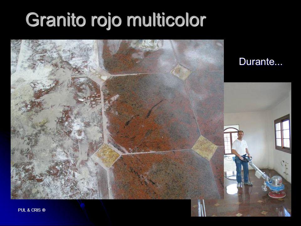 PUL & CRIS ® Granito rojo multicolor Durante...