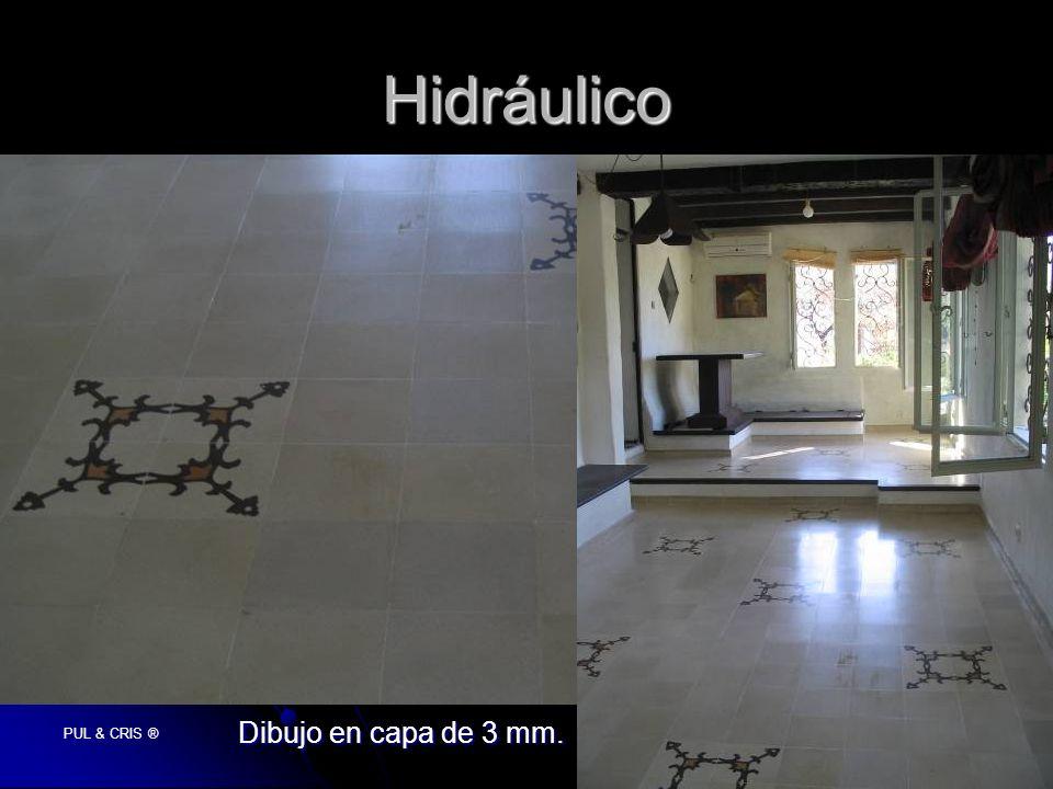 PUL & CRIS ® Hidráulico Dibujo en capa de 3 mm.