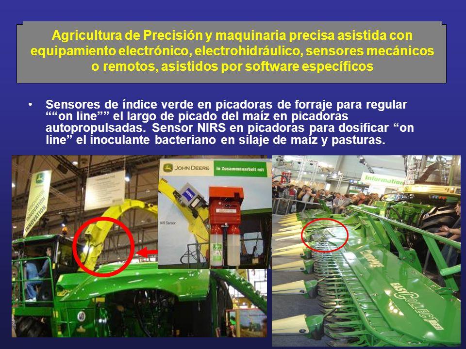 Sensores de índice verde en picadoras de forraje para regular on line el largo de picado del maíz en picadoras autopropulsadas. Sensor NIRS en picador