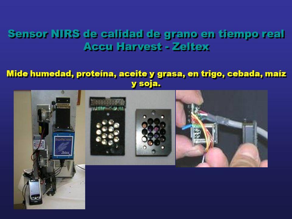 Sensor NIRS de calidad de grano en tiempo real Accu Harvest - Zeltex Mide humedad, proteína, aceite y grasa, en trigo, cebada, maíz y soja. Sensor NIR