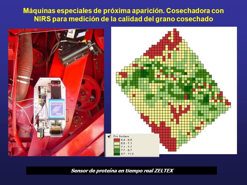 Máquinas especiales de próxima aparición. Cosechadora con NIRS para medición de la calidad del grano cosechado Sensor de proteína en tiempo real ZELTE