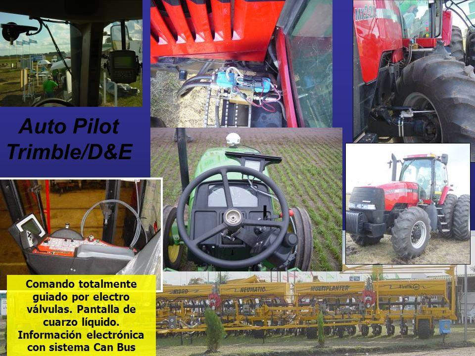 Auto Pilot Trimble/D&E Comando totalmente guiado por electro válvulas. Pantalla de cuarzo líquido. Información electrónica con sistema Can Bus
