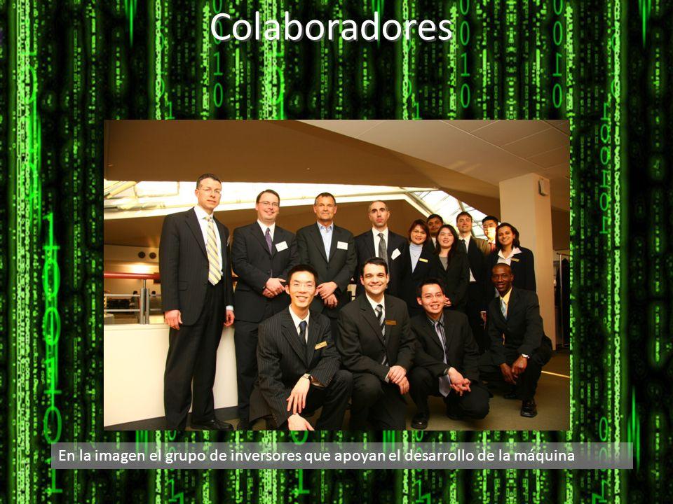 Colaboradores En la imagen el grupo de inversores que apoyan el desarrollo de la máquina