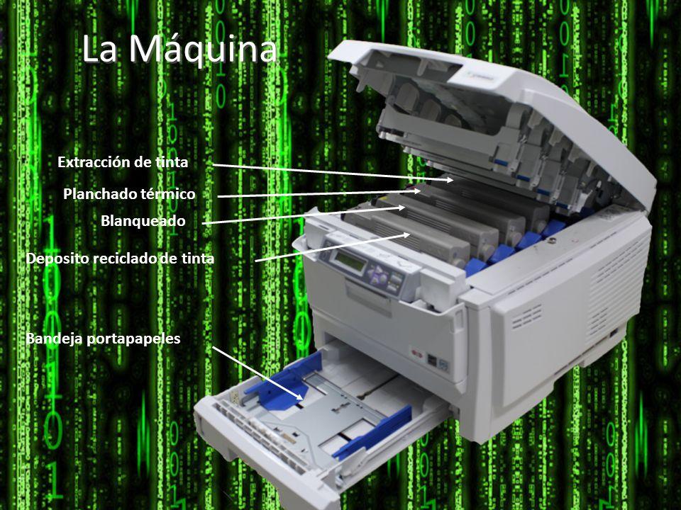 La Máquina Extracción de tinta Planchado térmico Blanqueado Deposito reciclado de tinta Bandeja portapapeles