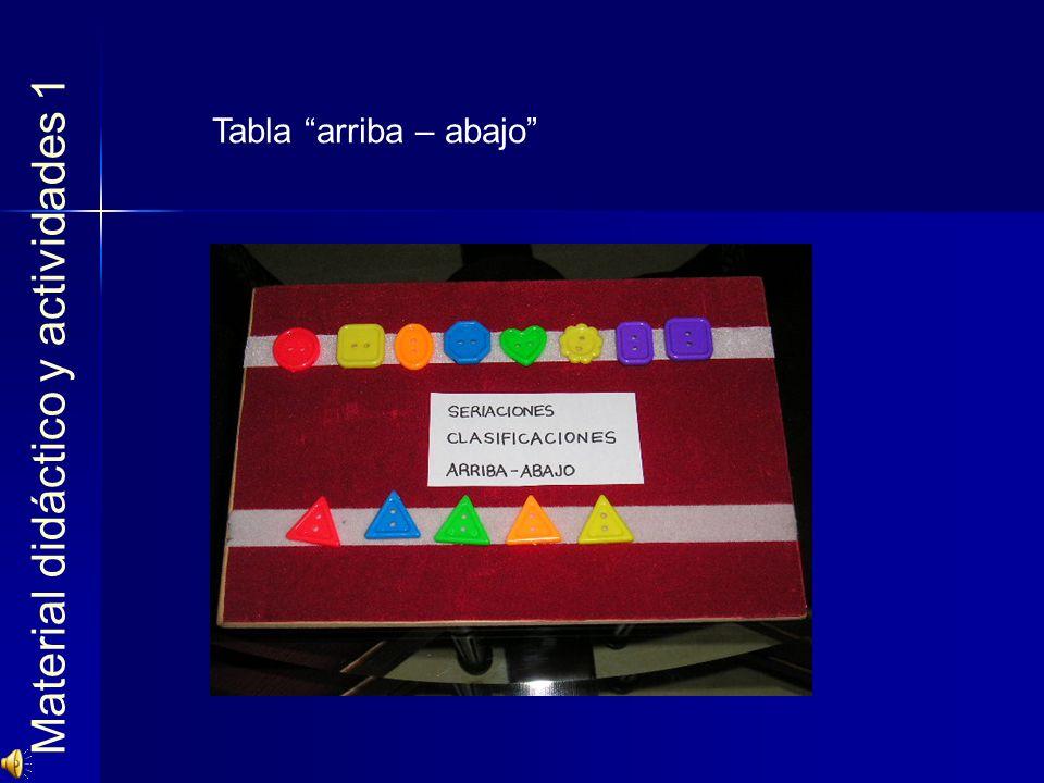 Material didáctico y actividades 1 Tabla arriba – abajo
