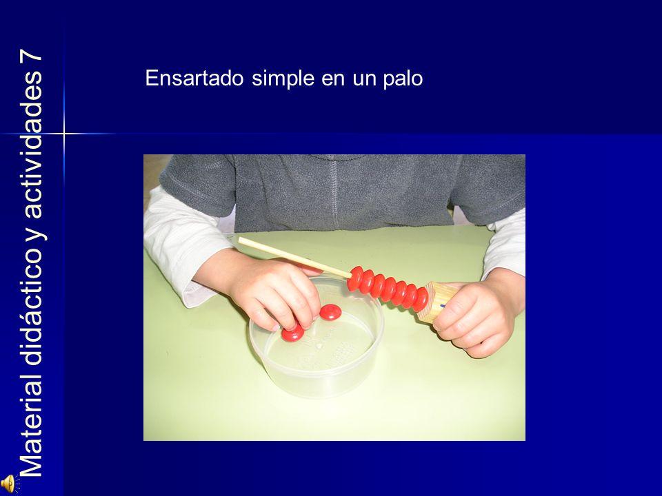 Material didáctico y actividades 7 Ensartado simple en un palo