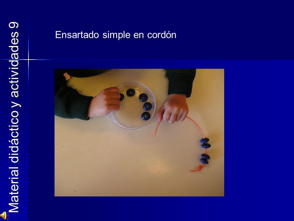 Material didáctico y actividades 9 Ensartado simple en cordón